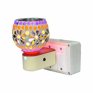KesarZEMSCeramic Dhoop Dani Kapoor Dhup Electric Aroma Burner for Led Electrical 3 Pin Diffuse Incense Fragrance Holder
