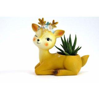 Resin Deer Succulent Planter Pots Flower Pot Creative Animal Home and Garden Decor