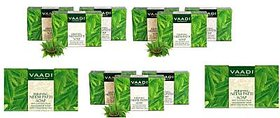 Vaadi Herbals Purifying Neem Patti Soaps with Pure Neem Leaves (10x 75g)