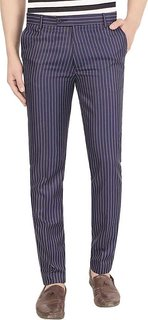 Culture blue lining polo trouser for men
