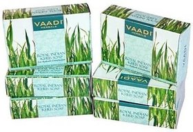 Vaadi Herbals Royal Indian Khus Soap With Olive  Soyabean Oil (75 gms x 6)