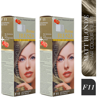 Berina F11  Matt Blonde FRE-NIA Hair Color Cream 60gm Pack of 2