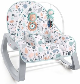 Fisher-Price Infant-to-Toddler Rocker - Pacific Pebble, Portable Baby Seat
