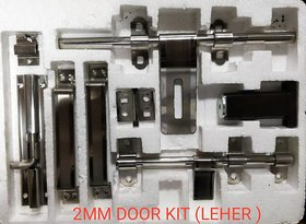 ONE10 STAINLESS STEEL 10 INCH SINGLE DOOR KIT  2 MM THICK TWO TONE FINISH ( LEHER )