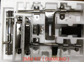 ONE10 STAINLESS STEEL 10 INCH SINGLE DOOR KIT  2 MM THICK MATT FINISH (DIAMOND )