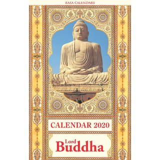 Lord Buddha Wall Calendar 2020, Adoring Illustrations of Lord Buddha, 6 Detachable Paintings for Framing, 13.25 x 8.25