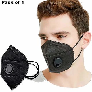 RAKSH KN95/N95 with Filter Face Mask, Anti-Pollution  Anti Virus Breathable Face Mask With Melt Blown Fabric Layer