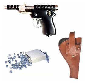 DYNAMIC MART 007 METAL AIR GUN 100 PALLETS WITH COVER (BLACK, BROWN)