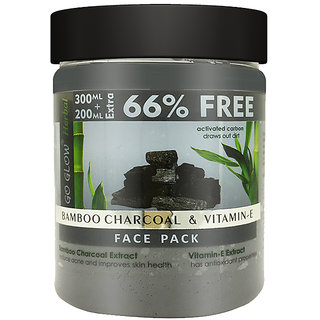 Go Glow by Berina Bamboo Charcoal  Vitamin E Face Pack, 500ml