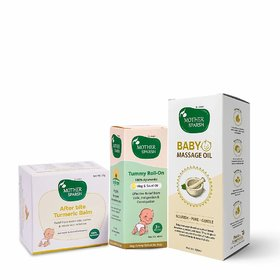 Mother Sparsh Massage Oil for Babies, After Bite Turmeric Balm  Tummy Roll On