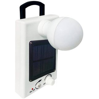 White 12 LED Solar Bulb With Charge Rechargeable Emergency Light By sahi