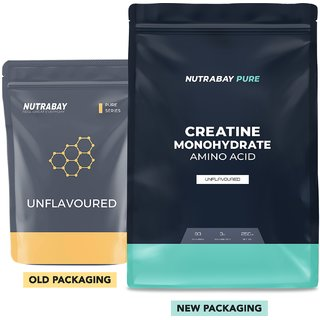 Nutrabay Pure Series Creatine Monohydrate Micronised - 250g, Unflavoured