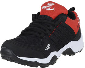Lancer Kids Black Red Sports Running Shoes