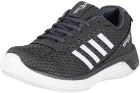 Lancer Kids Grey White Sports Running Shoes