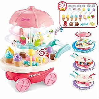 30pcs Ice Cream trolly toy
