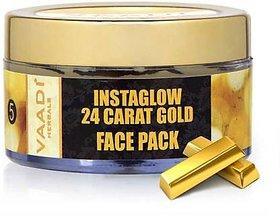 Vaadi Herbals 24 Carat Gold Face Pack - Vitamin-E  Lemon Peel (70 gms)
