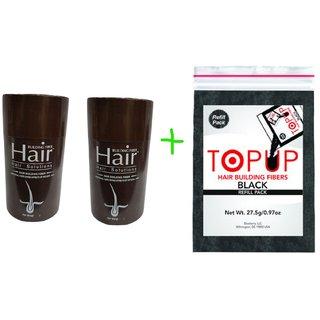Hair Building Fiber And Topup Fiber Combo