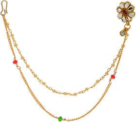Hetprit Shimmering Graceful Gold Plated Nose Pin For Women