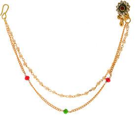 Hetprit Gold Plated Shimmering Graceful Nose Pin For Women