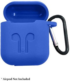 Silicone-Shockproof Case Cover with Pull string Compatible with Airpods (Airpods are not included)
