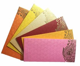 100 Pcs. Designer Money Envelope, Shagun Envelop, Wedding, Engagement, Any Occasion Random Color Random Design