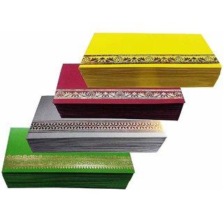 Pack of 100 Premium Designer Money Gift Envelopes Random Color Random Design