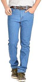 Dawn Men's Pack of 1  Regular Fit Blue Jeans