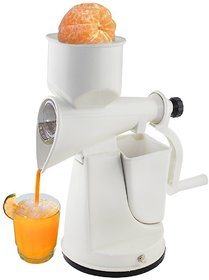 Magikware Popular Plastic Fruit Juicer Ideal For Pulpy Fruits White