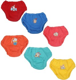 Cucumber Baby Boys and Girls Bloomer Unisex Cotton Innerwear Brief Panty Drawer Combo Pack of 6 - XS Assorted Colors