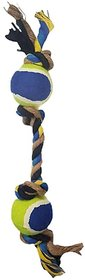 REGAL 2 Balls and 4 Knots Rope Toys for Medium/Large Dogs 1 PC