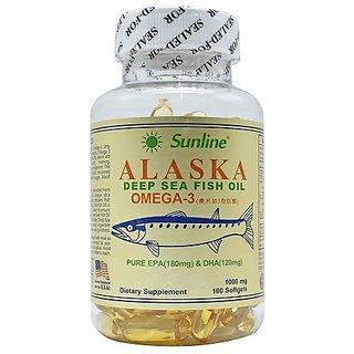 Sunline Alaska Deep Sea Fish Oil Om-E-Ga 3 - 100 Softgels, 1000 Mg (1000 Mg)