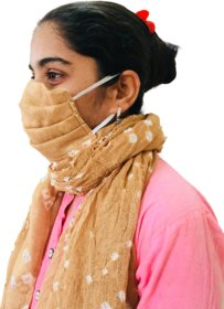 Women's Scarf Cum Mask 100 Cotton Quality - Double Layer Protection Safety With Fashion