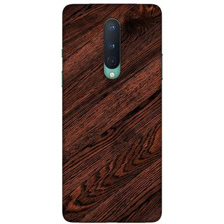 OnHigh Designer Printed Hard Back Cover Case For OnePlus 8, Wooden Sheet