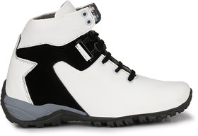 Big Fox White Lace-up Boots For Men