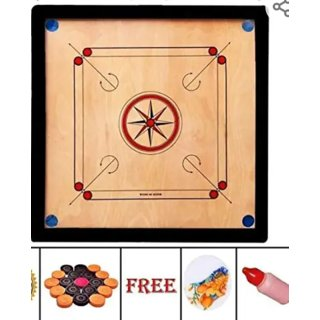 Indoor Carrom Board 20 inch with coins