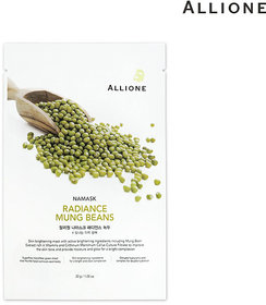 Namsk Radiance Mung Beans Sheet Mask Pack For Brightening &  Firming  - 1Pc