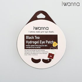 Iwanna Hydrogel Eye Patch - Black Tea - Lifting and Glow for Unisex