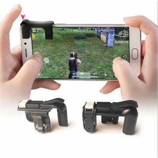 Tech Gear Gaming Trigger Fire Button Gaming Controller For PUBG Mobile Game L1R1 Shooter Handle For Smartphones