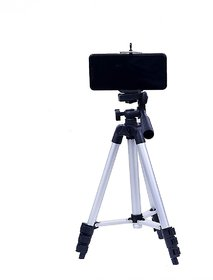 Aluminium Adjustable Portable and Fordable Tripod Stand Mobile Clip and Camera Holder