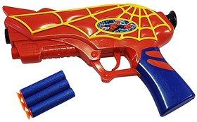 Blaze storm Spider Man Soft Bullets Gun with Foam Bullets Guns  Darts  (Multicolor)