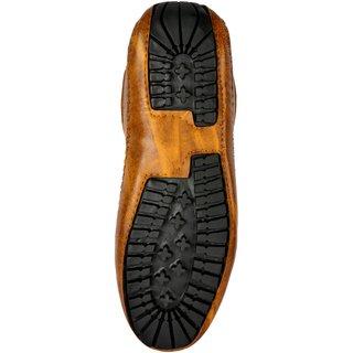 Buy FIIA Tan Men Black Fully-Fashioned