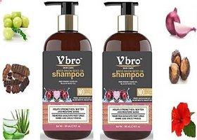 VBRO SKIN CARE Red Onion Black Seed Oil Shampoo  Vitamin E (300 ml) (300 ml) PACK OF 2 Men  Women  (600 ml)