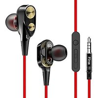 4D Bass Earphone With Deep Bass Wired Headset with Mic