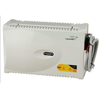 V-Guard VG 400 New for 1.5 Ton AC (170V To 270V) Voltage Stabilizer (Grey)