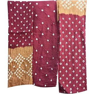 VISCARIA Bandhani Cotton Unstitched Dress Material For Women