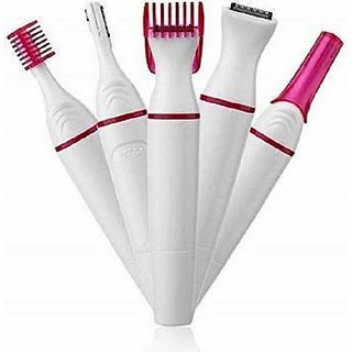 Sweet Sensitive Touch Eyebrows Underarms Electric Trimmer for Women (Multicolour) 1 Pc.