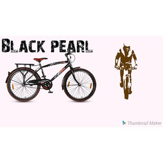 Hero Black Pearl 26 Inches Single Speed 26 T Mountain/Hardtail Cycle  Single Speed, Multicolor  Cycles