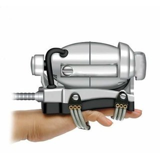 Oxterm Crome Matalic Head And Body Powerful Double Speed Floating Action Special Heavy Duty Massager - Silver