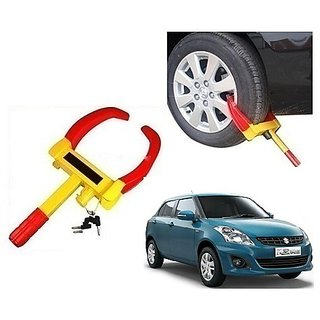 After cars Yellow Anti Theft Car Wheel Tyre Lock Clamp for MS Dzire 2011 Car