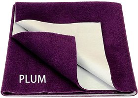 MR Brothers Baby dry sheet water resistance small size (19x27) Inches, Plum - Pack of 1